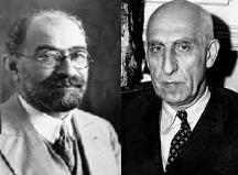 محمد مصدق و محمد علی فروغی