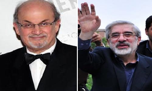 میرحسین موسوی و سلمان رشدی