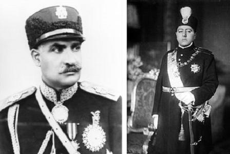 رضا شاه و احمد شاه